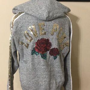 Victoria's Secret PINK Sequin Pullover Hoodie